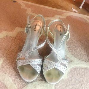 Silver diamond formal heels